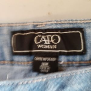 Cato Woman lacy embellished distressed shorts